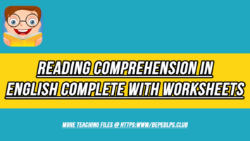 Reading Comprehension in English Complete with Worksheets