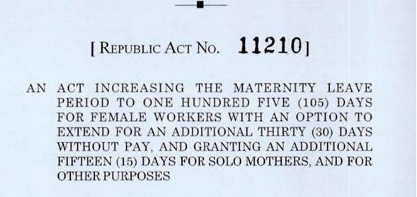105-maternity-leave