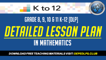 detailed lesson plan deped most essential learning competencies DLP math