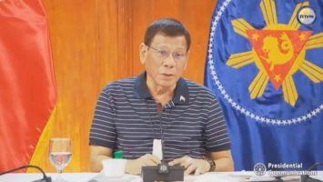 President Rodrigo Roa Duterte spoke to the nation last night, May 25, 2020
