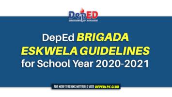 DepEd Brigada Eskwela Guidelines for School Year 2020-2021