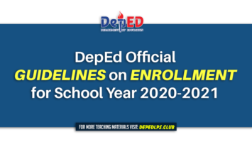 DepEd Official Guidelines on Enrollment for School Year 2020-2021