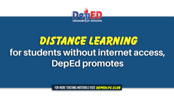 Distance learning for students without internet access, DepEd promotes