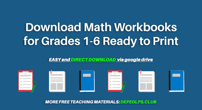 Download Math Workbooks for Grades 1-6 Ready to Print