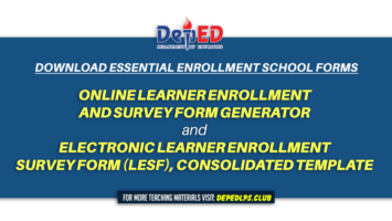 Online Learner Enrollment and Survey Form Generator & Electronic Learner Enrollment Survey Form (LESF), Consolidated Template