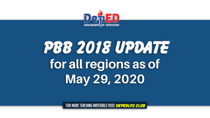 PBB 2018 Update for all regions as of May 29, 2020