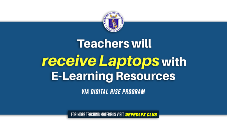 Teachers will receive Laptops with E-Learning Resources