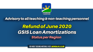 ADVISORY Refund of June 2020 GSIS Loan Amortizations