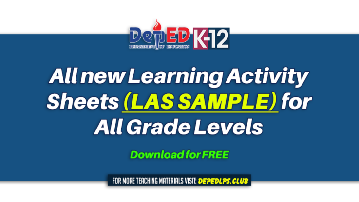 All new Learning Activity Sheets (LAS SAMPLE) for All Grade Levels