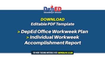 DepEd Office Workweek Plan & Individual Workweek Accomplishment Report Editable