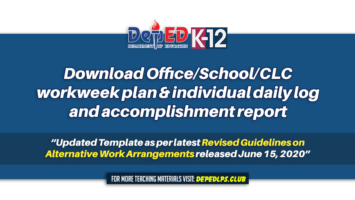 Office School CLC workweek plan & individual daily log and accomplishment report