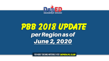 PBB 2018 Update per Region as of June 2, 2020