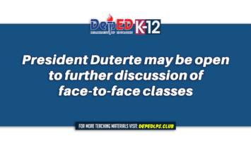 President Duterte may be open to further discussion of face-to-face classes