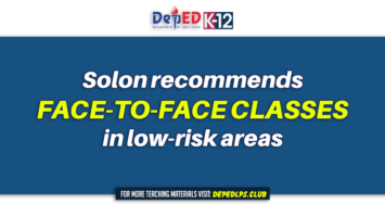 Solon recommends face-to-face classes in low-risk areas