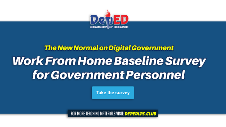 The New Normal on Digital Government Work From Home Baseline Survey for Government Personnel