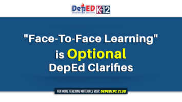 Face-To-Face Learning is Optional DepEd Clarifies