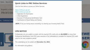 PRC ID Renewal without Full CPD Compliance is Extended