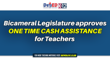 Bicameral legislature approves one time cash assistance for Teachers