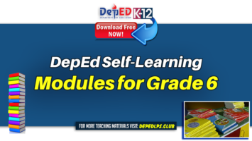 DepEd Self-Learning Modules for Grade 6