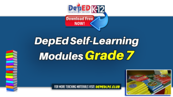 DepEd Self-Learning Modules for Grade 7