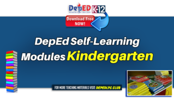 DepEd Self-Learning Modules for Kindergarten