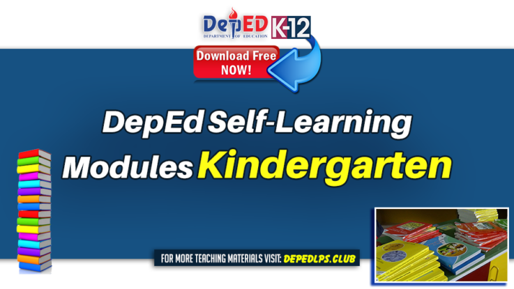 DepEd Self-Learning Modules for Kindergarten