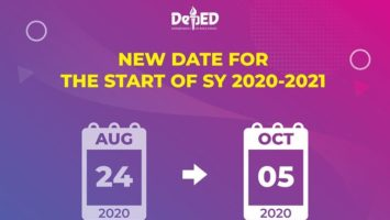 Official School Opening moved to October 5, 2020