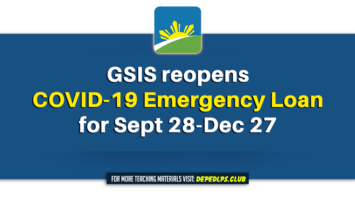 GSIS reopens COVID-19 Emergency Loan for Sept 28-Dec 27