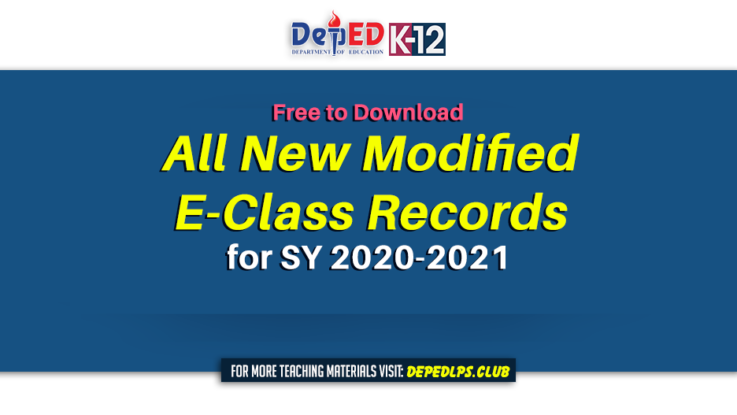 All new Modified E-Class Records for SY 2020-2021 - Free to Download