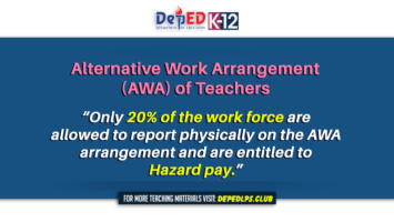 Alternative Work Arrangement (AWA) of Teachers