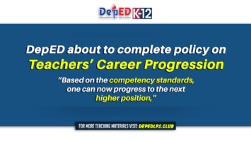 DepED about to complete policy on Teachers' career progression