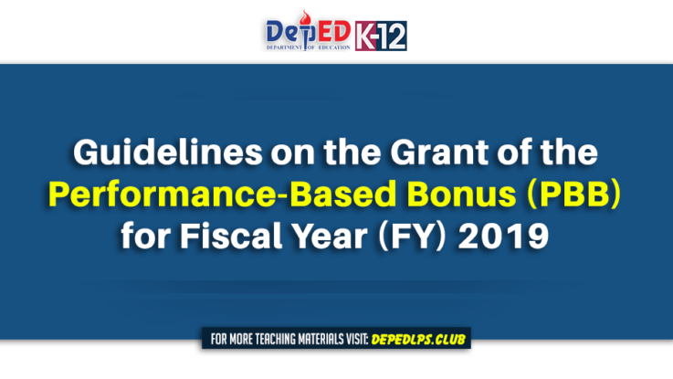 Guidelines on the Grant of the Performance-Based Bonus (PBB) for Fiscal Year (FY) 2019