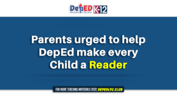 Parents urged to help DepEd make every child a reader