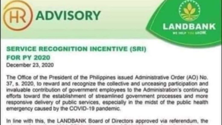 Landbank Deped Teachers Service recognition incentive 2020