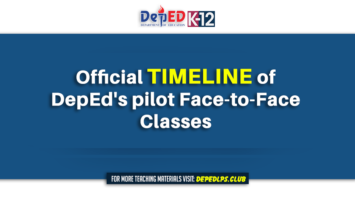 Official timeline of DepEd pilot Face-to-Face Classes