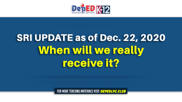 SRI UPDATE as of Dec. 22, 2020 - When will we really receive it