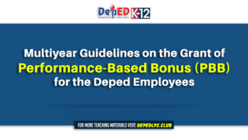 Multiyear Guidelines on the Grant of Performance-Based Bonus (PBB) for the Deped Employees