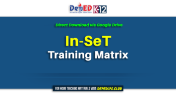 DOWNLOAD In-SeT Training Matrix
