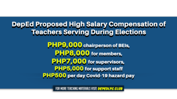 DepEd Proposed High Salary Compensation of Teachers Serving During Elections