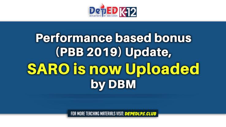 Performance based bonus (PBB 2019) Update, SARO is now Uploaded by DBM