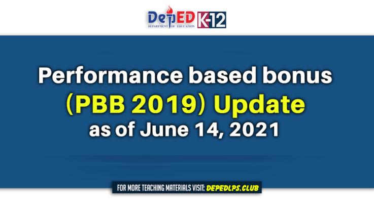 Performance based bonus (PBB 2019) Update as of June 14, 2021
