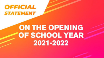 Official opening of classes for SY 2021-2022 is on Sept. 13, 2021