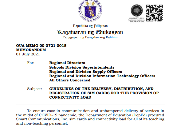 deped Connectivity Load
