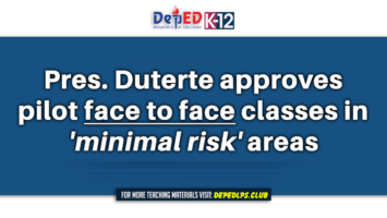 Duterte approves pilot face to face classes in 'minimal risk' areas